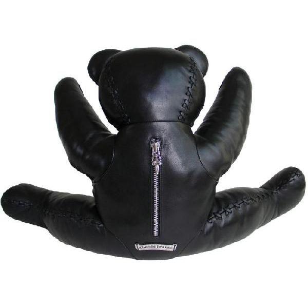 铬心泰迪熊大黑色皮革