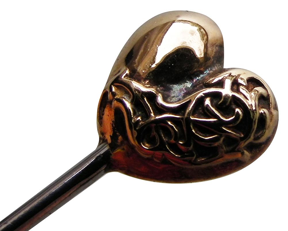 CHROME HEARTS MINI HEART LAPEL PIN chrome Hertz mini-heart pin gold