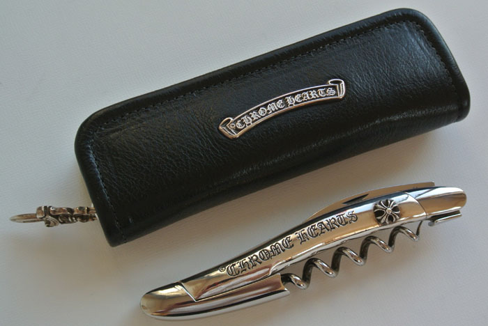 Chrome hearts sommelier (SOMMELIER) set with case, wine opener