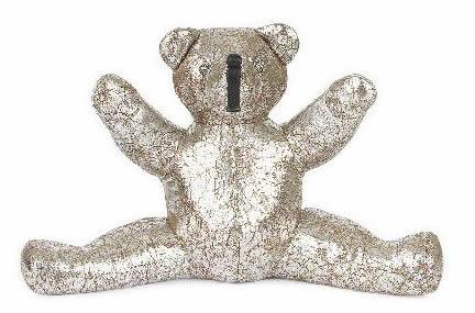 CHROME HEARTS TEDDY BEAR MED クロムハーツ ミディアム レザー テディベア メタリック