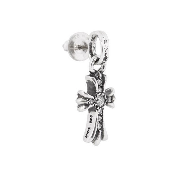Chrome Hearts Baby Fat Earring Pave Diamond Ch Cross Phat Earrings Paved
