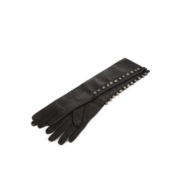 CHROME HEARTS WOMENS SPINE FLUID GLOVES #1 CROSS BALL STRIPE クロムハーツ レディース SPINE FLUID グローブ