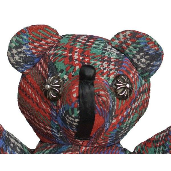CHROME HEARTS TEDDY BEAR PLAID铬赫茨玩具熊格子花纹