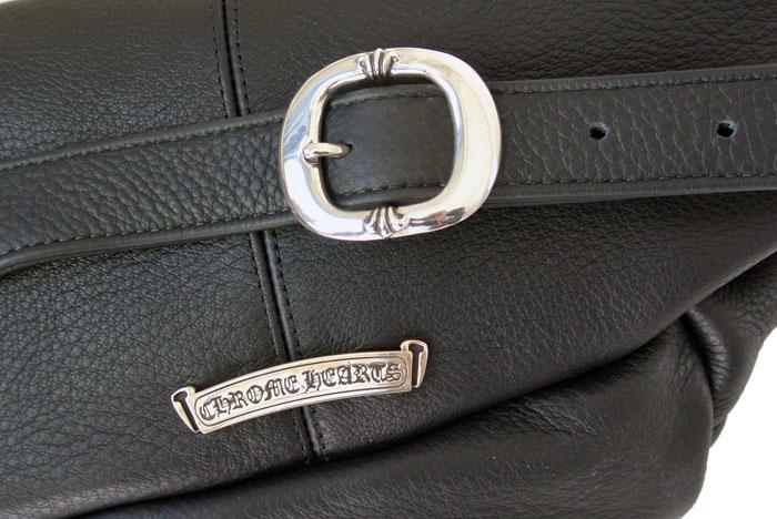 沉重的黑色皮革和铬心重皮革 SNAT 腰袋镶边袋 /SNAT # 1