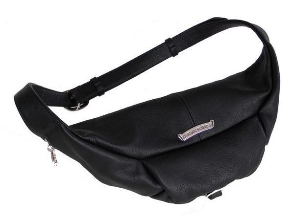 Chrome Hearts Waist-Pouch SNAT #1 heavy black leather