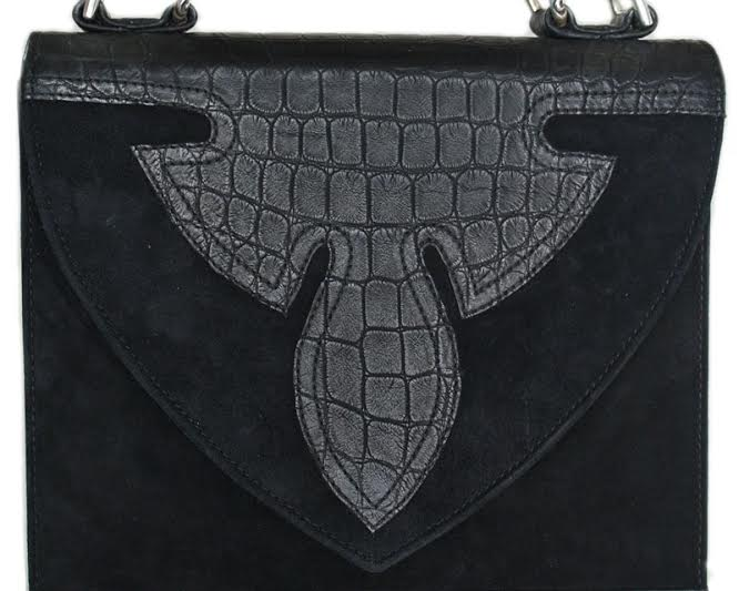 CHROME HEARTS NATAYA BAG chrome NANTAYA bags MATTE ALLIGATOR BODY / SUEDE FLAP フレアニー