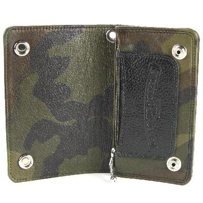 铬心 1 zip 钱包迷彩真皮钱包