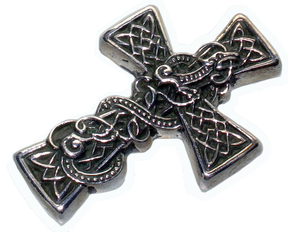sided double celtic pendant oxidized ca product silver cross
