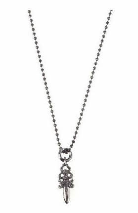 Chrome Hearts 5 Dagger Pendant Necklace 30 Inch Dubuis