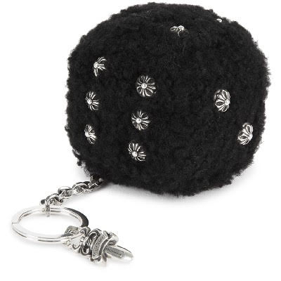 CHROME HEARTS FUZZY DICE SHEARLING KEY CHAIN クロムハーツ FUZZY DICE SHEARLING キーチェーン キーリング
