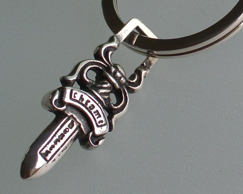 铬的心灵的钥匙串大十字架 / 经典链 / 匕首