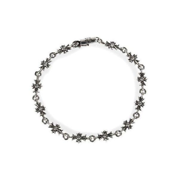Chrome Hearts Bracelet: SKYTREK: CHROME HEARTS TINY E CH PLUS BRACELET DIAMOND