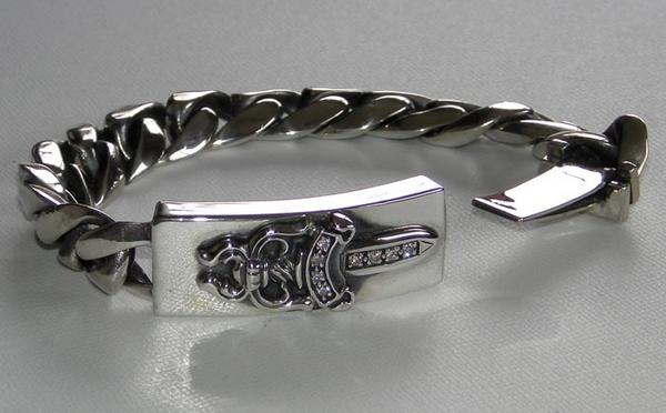 Skytrek Rare Chrome Id Bracelet Dagger Diamond Rakuten Global