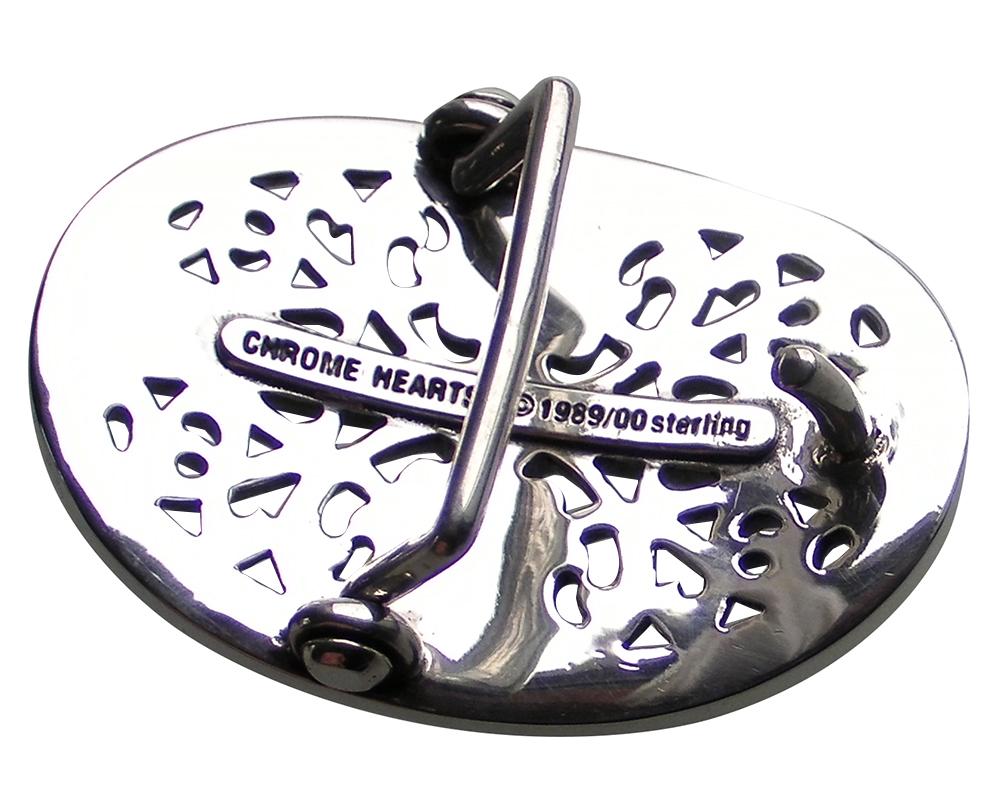 CHROME HEARTS CLASSIC OVAL CROSS BELT BUCKLE クロムハーツ クラシックオーバル クロス ベルトバックル