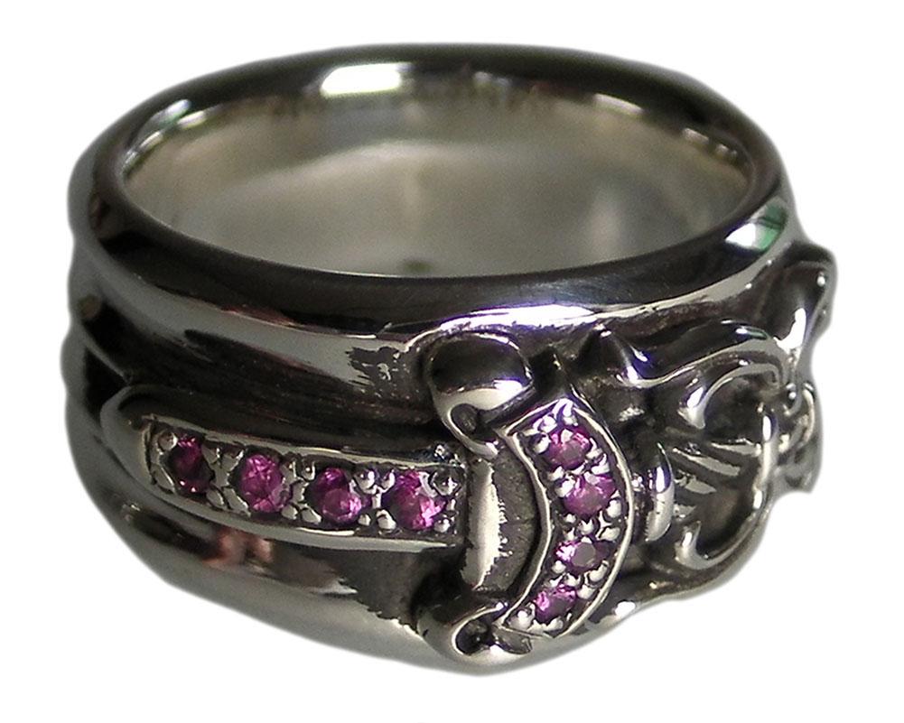 e34394d7d71d SKYTREK  CHROME HEARTS DAGGER RING RUBY chrome dagger ring Ruby No ...