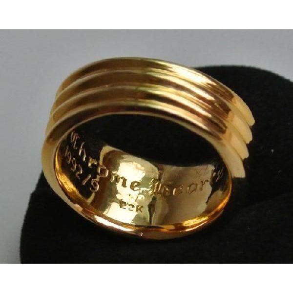 铬赫茨短剑环22钱PAVE钻石戒指