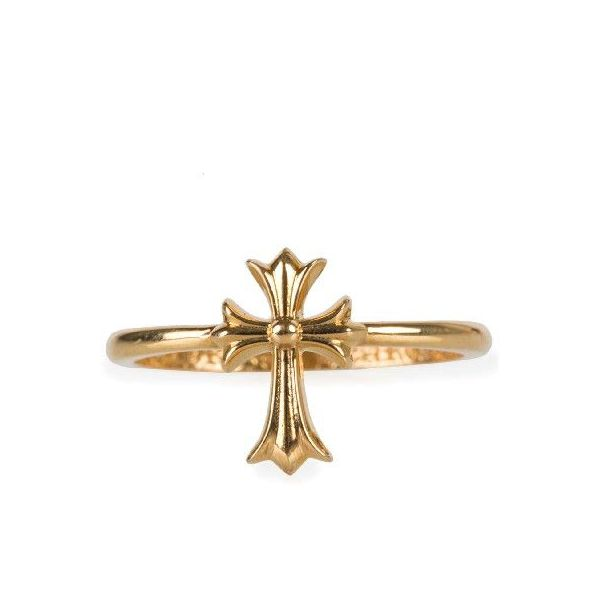 CHROME HEARTS CH CROSS BUBBLEGUM RING chrome hearts CH cross bubblegum ring