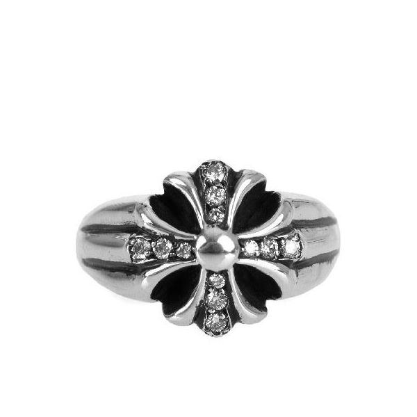 CHROME HEARTS CUT OUT CH PLUS RING W/PAVE DIAMOND クロムハーツ カットアウト CHプラス リング パヴェダイヤ