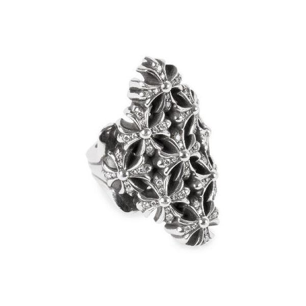 CHROME HEARTS CHAIN MAILLE LARGE PLUS PAVE DIAMOND クロムハーツ CHAIN MAILLE ラージ プラス パヴェダイヤ