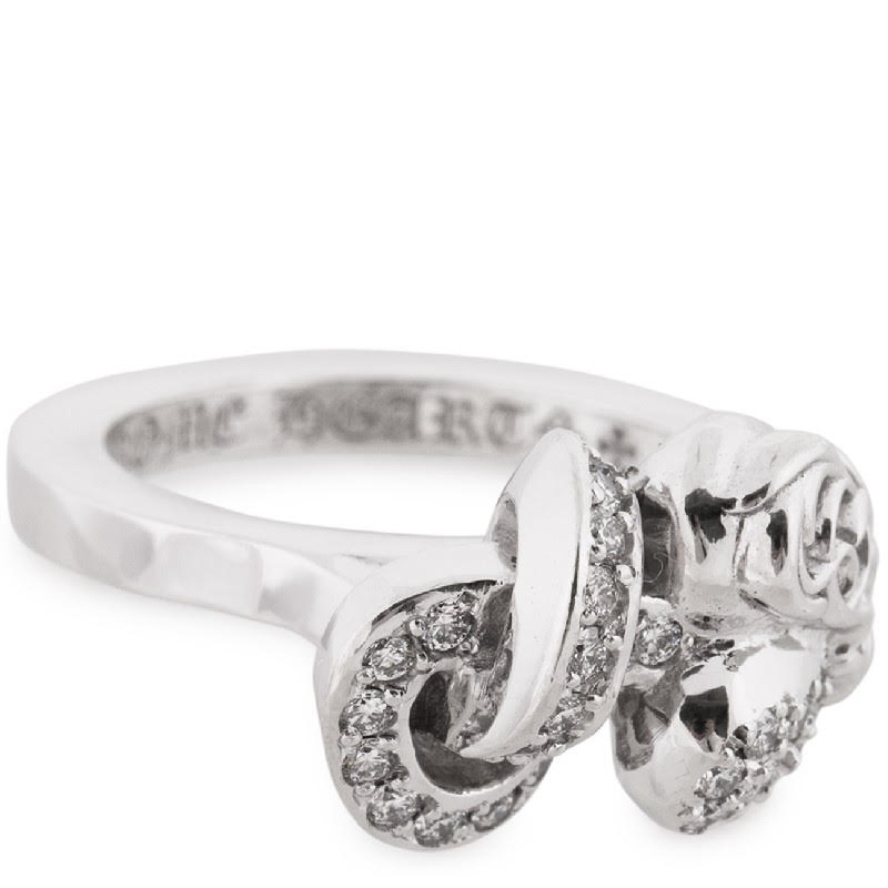 CHROME HEARTS I HEART YOU KNOT RING WHITE GOLD PAVE クロムハーツ ホワイトゴールド パヴェダイヤ リング