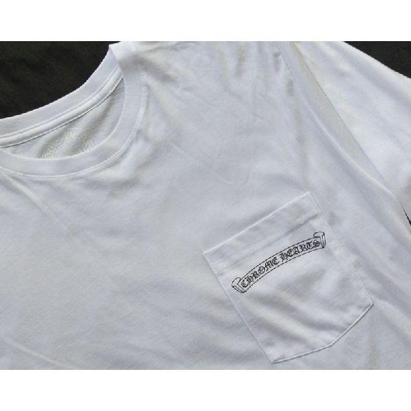 CHROME HEARTS LONG SLEEVE T-SHIRT WHITE CH PLUS/CROSS铬赫茨人长T恤白CH加