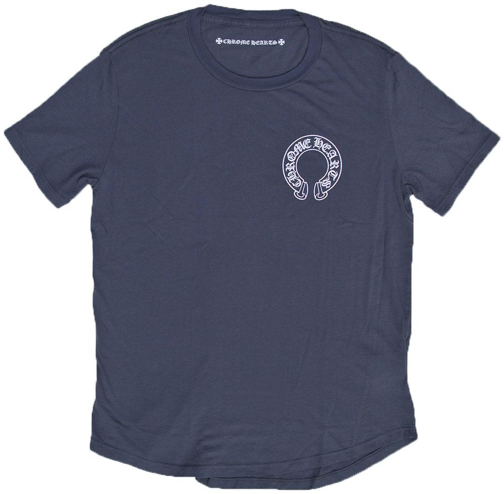 CHROME HEARTS HALF SLEEVE T-SHIRT HORSESHOE GREY クロムハーツ 半袖Tシャツ ホースシュー / スクロールロゴ Tシャツ