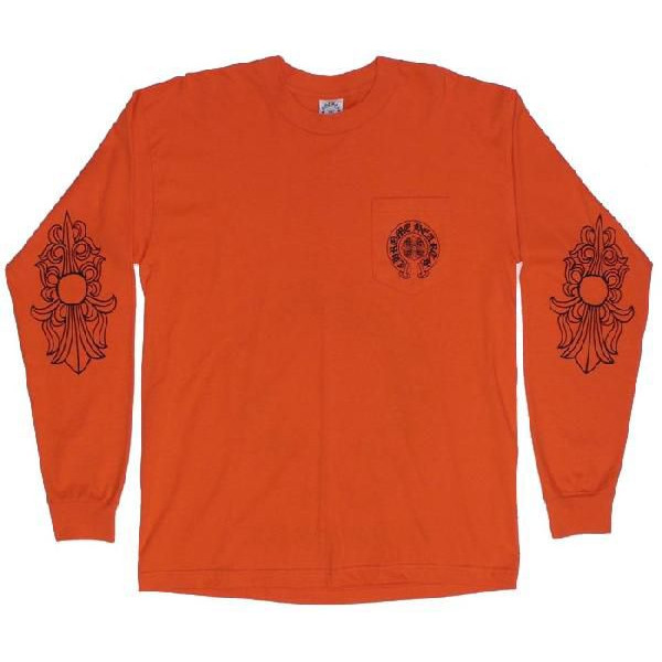 2999b8f8846d SKYTREK  Chrome hearts long T shirt New York limited edition Orange ...
