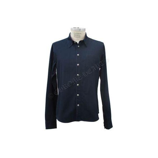 CHROME HEARTS MENS SHIRT BLUE クロムハーツ メンズシャツ  ブルー  サイズL