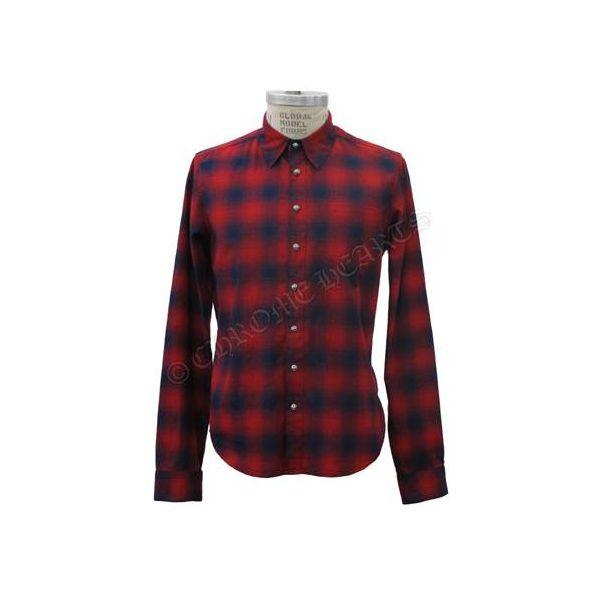 CHROME HEARTS MENS SHIRT RED PLAID クロムハーツ メンズシャツ レッド チェック柄