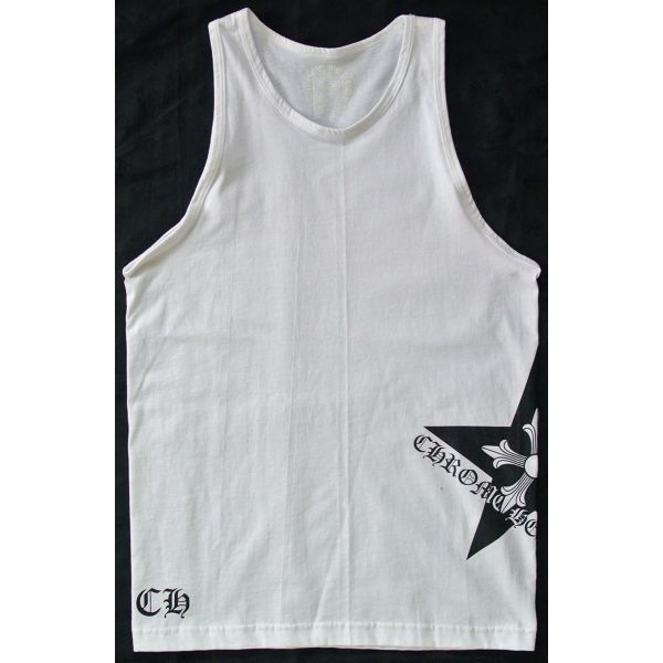 4dae438ce490c CHROME HEARTS TANK SURFER WHITE chrome hearts mens tank top SURFER cross  new white