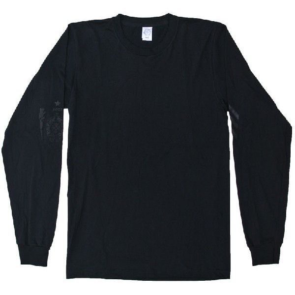CHROME HEARTS LONG SLEEVE T-SHIRTS FOTI MANALIA クロムハーツ 長袖Tシャツ FOTI/ MANALIA/CH ホースシュー シルバープリント