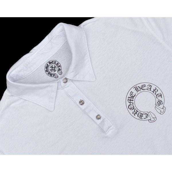 铬的心男装马球衬衫白色铬心男装 polo 衫白