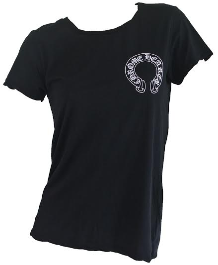 CHROME HEARTS LADIES HALF SLEEVE T-SHIRT Matt DiGiacomo chrome hearts women's short sleeve T shirt Matt DiGiacomo black