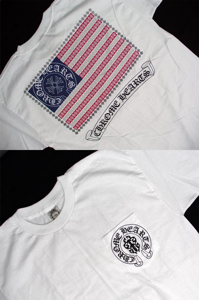 bf0e5f865a7 SKYTREK  V53 U. S. Flag short sleeve T-shirt USA Chrome Hearts ...