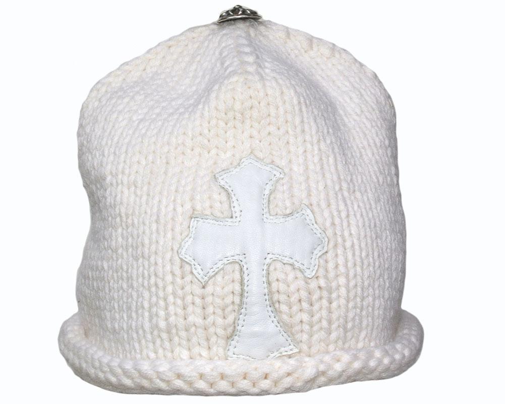 CHROME HEARTS CASHMERE KNIT CAP CROSS WHITE クロムハーツ カシミアニットキャップ クロス  ホワイト