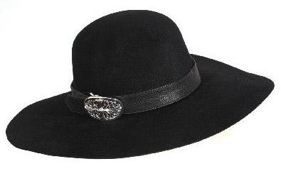 クロムハーツ メンズ FEDORA ハット 帽子 クラシックオーバルバックル/レザーバンド付き