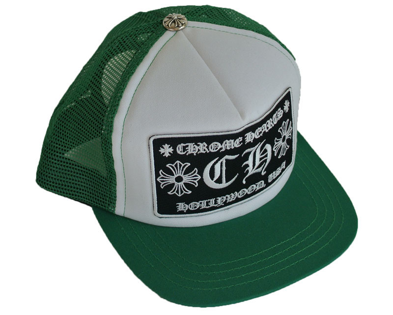 d8cb9808b1f Skytrek Green And White Patches Ch Trucker Cap Chrome Rakuten. Chrome Hearts  Cross Horseshoe Hat Black