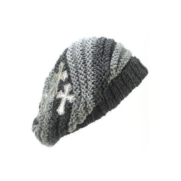クロムハーツ ハットビーニー SLOUCHY  ストライプ 新作帽子