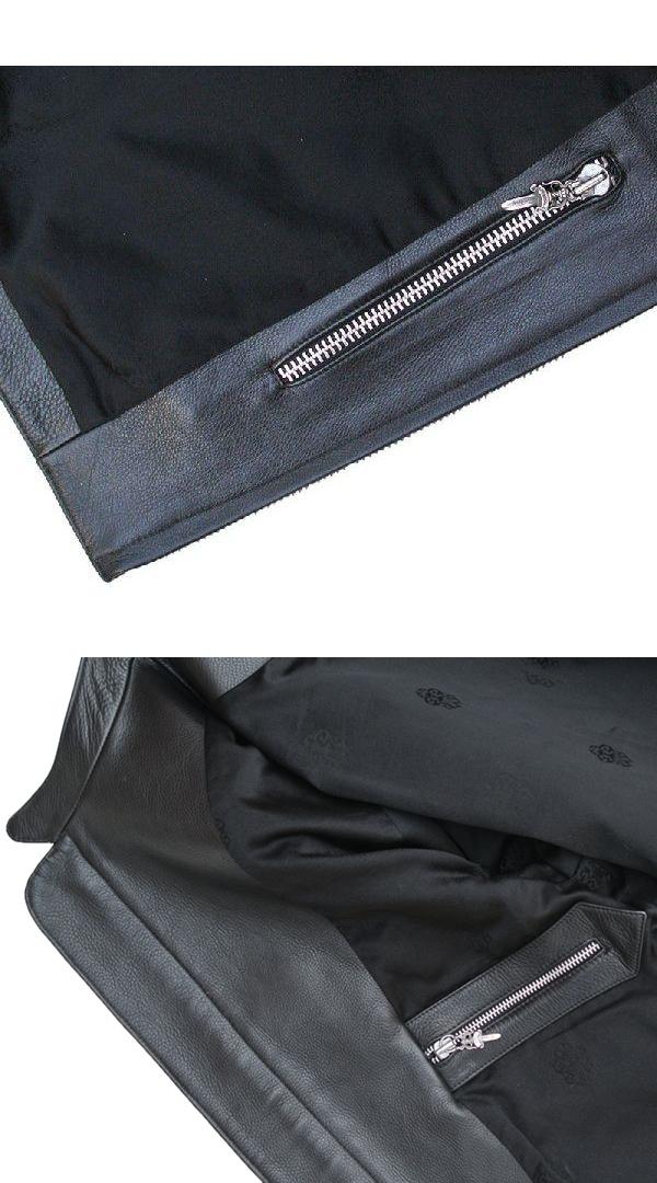 d40ec26e011c0 Chrome hearts leather jacket  RACING  2/ racing leather   Black XL size