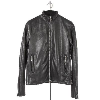 f36861adc65a9 CHROME HEARTS MEN s PERFECT LEATHER JACKET SIDE ZIPS chrome men s PERFECT  leather jacket SIDE ZIPS