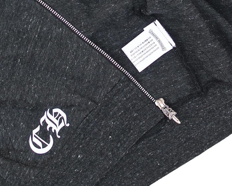 CHROME HEARTS HOODIE ZIP HAIRY DAGGER chrome sweet Parker zip HAIRY dagger