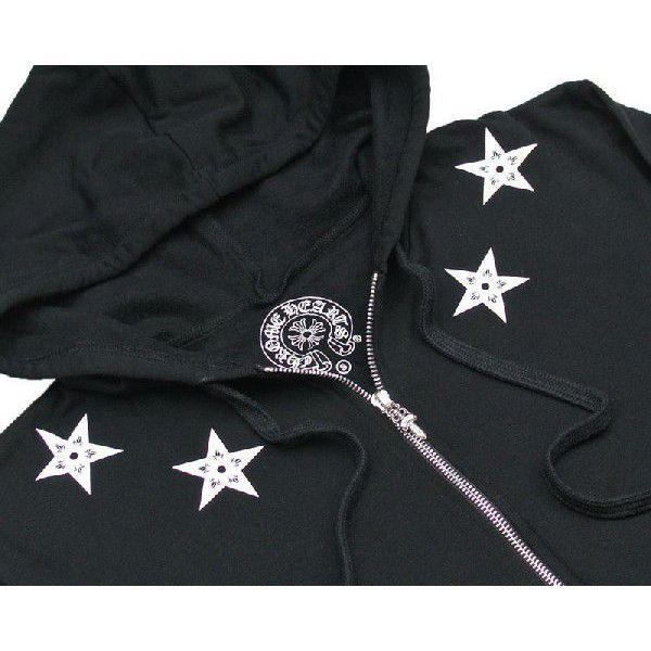 CHROME HEARTS HOODIE STARS BLACK chrome hearts sweat shirt parka star black