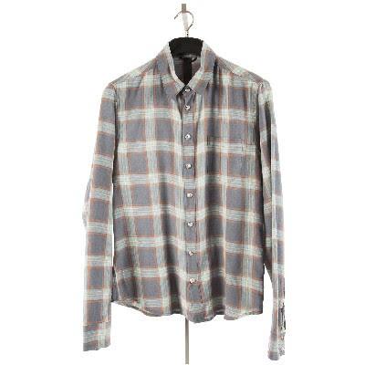 クロムハーツ メンズシャツ LOOSE ENDS SHIRT V3 クロスボールボタン セメタリークロスパッチ