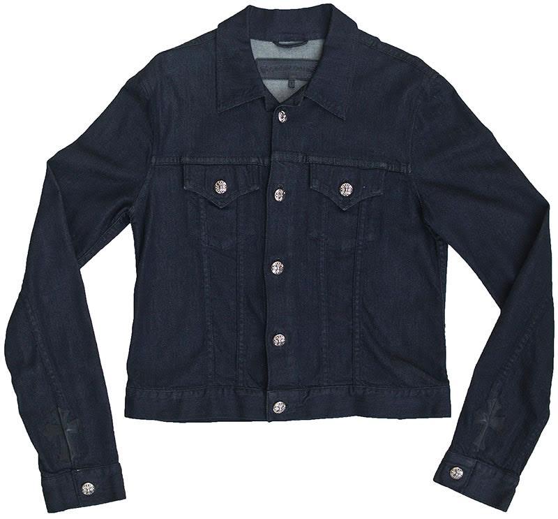 クロムハーツ メンズシャツ SWEET CHEECKS ストレッチ デニムジャケット  V1  セメタリークロスパッチ