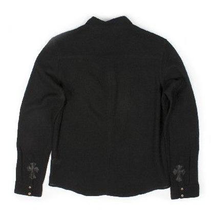 铬的心男装 t 恤 l/s 零星纱布羊毛花式交叉 B