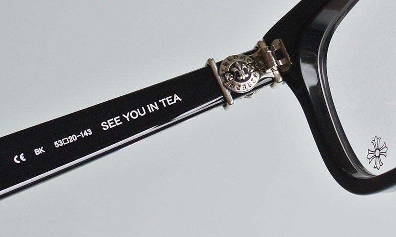 CHROME HEARTS SEE YOU IN TEA  EYEWEAR BLACK