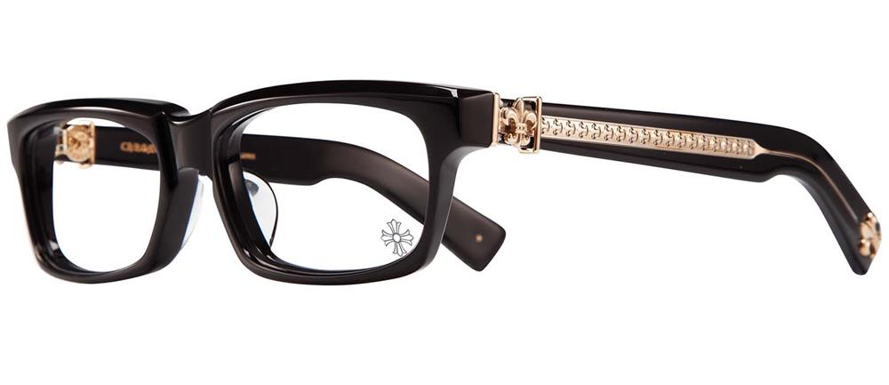 CHROME HEARTS SPLAT-A Black-Gold Plated 55-17-143铬赫茨眼罩眼镜