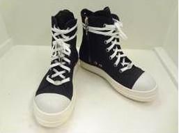 Chrome RICK OWENS 'RAMONES' sneakers black
