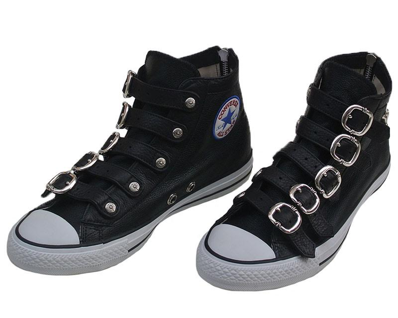 CHROME HEARTS CONVERSE W/BUCKLES chrome sneakers converse