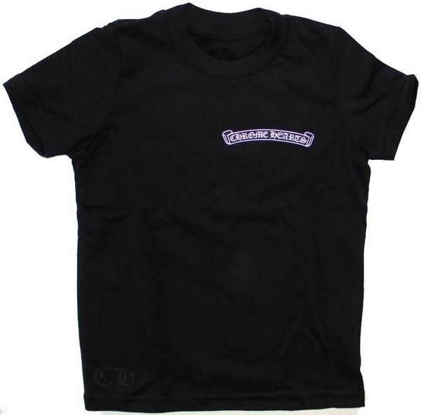 Chrome hearts kids t-shirt ( children ) short sleeve スクロールロゴ baby / toddler
